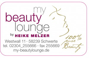 Aufkleber my beauty lounge 40x25 mm